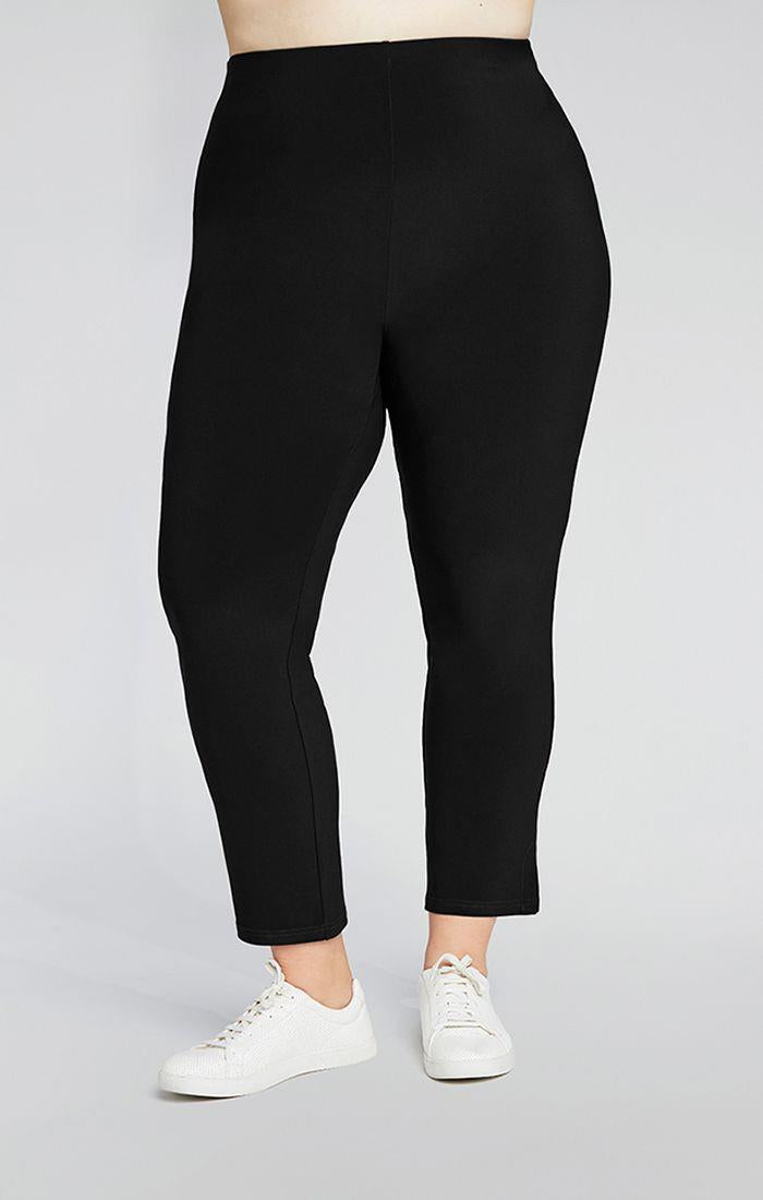 Sympli Narrow Pants Midi Plus #2748M at www.threewildwomen.ca | Free shipping over $200 North America