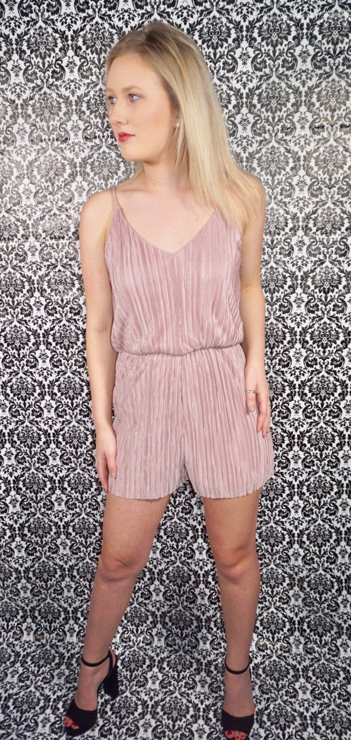 Stealing the Show Pleated Romper
