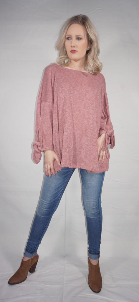 Knotted & Tied Knit Top