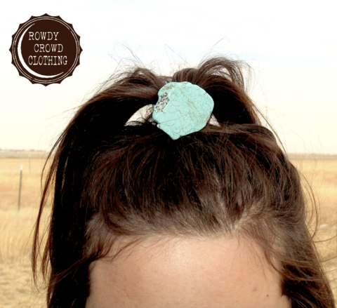 Turquoise Ponytail Holder