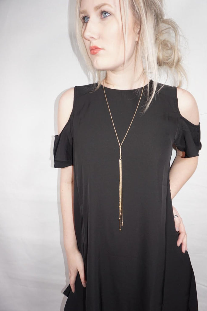 Golden Lights Tassel Necklace