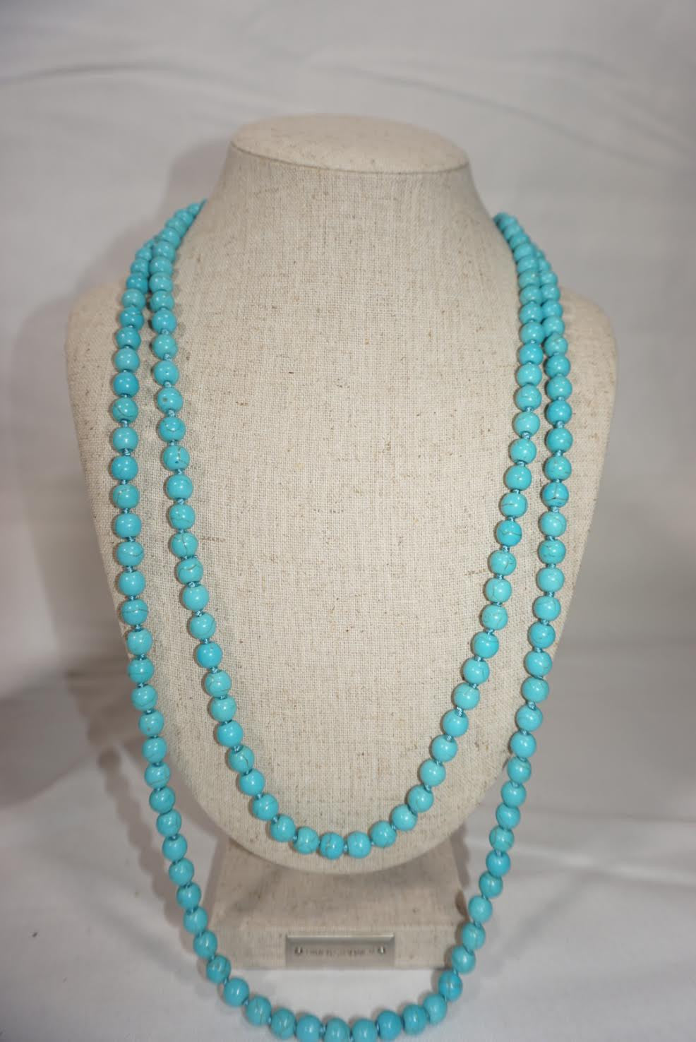 Double Wrap Turqouise Beaded Necklace