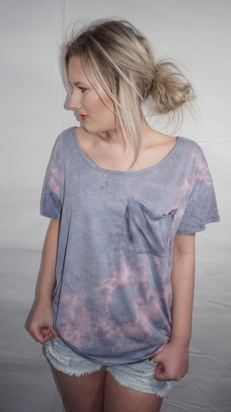 Cotton Candy Sunset Tie-Dye Tee