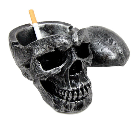 Spooky Skull Ashtray with Cover