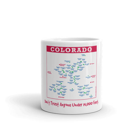 Image of Colorado 14er Map Mug