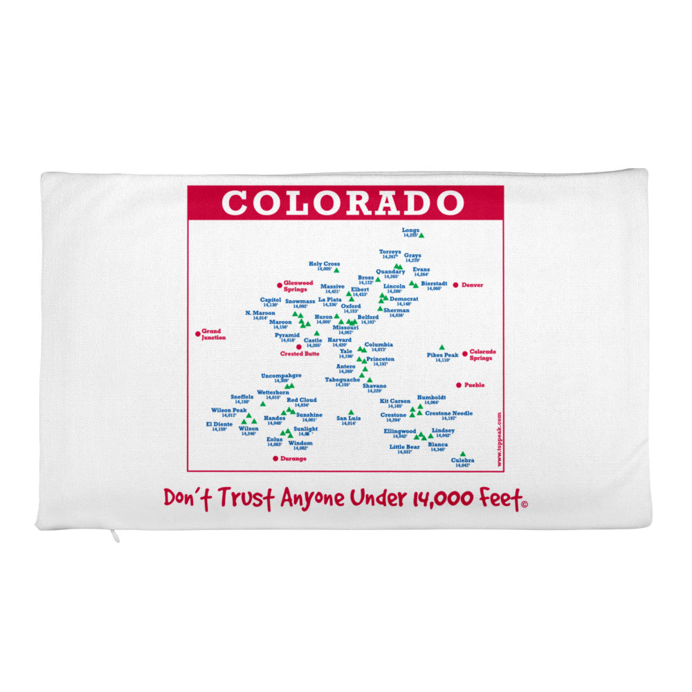 Premium Colorado 14er Pillow Case