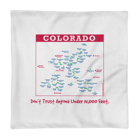 Image of Premium Colorado 14er Pillow Case