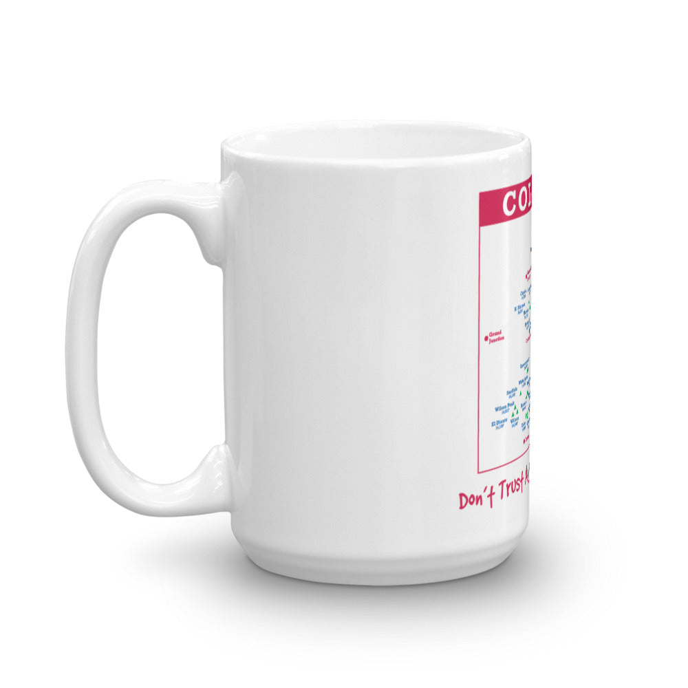 Colorado 14er Map Mug
