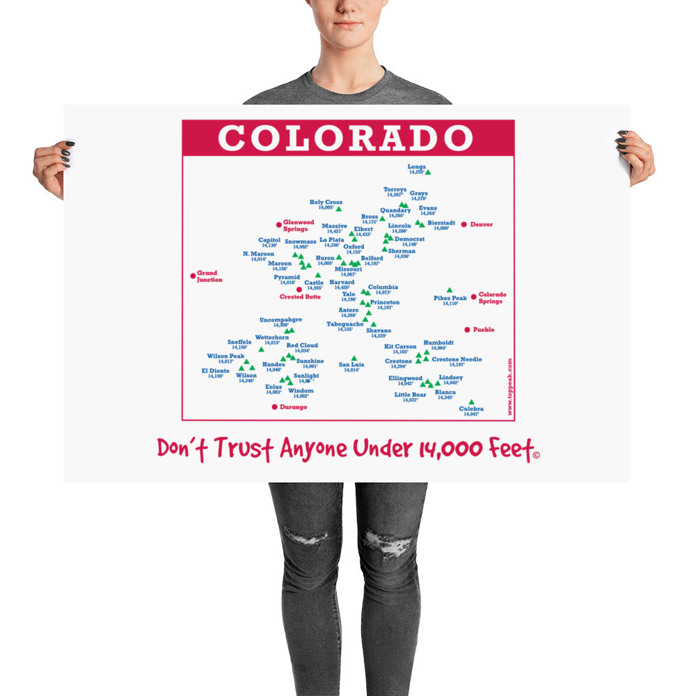 Don't Trust Anyone Under 14,000 Feet Poster