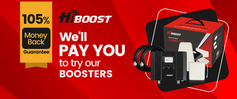 105% money back guarantee on cell phone signal boosters