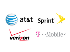 Logos for major North American telecom carriers