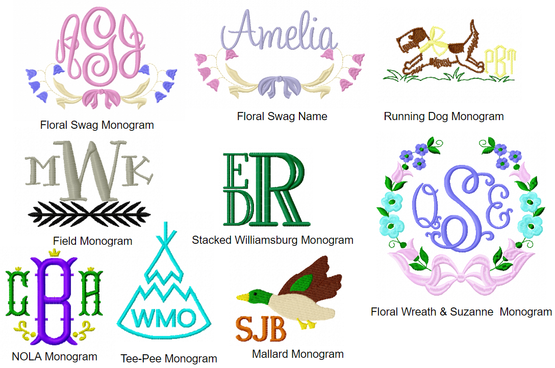 Monogram Options – Just The Thing Shop