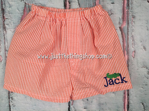 Seersucker 2T-4T Boxer Shorts - Just The Thing Shop