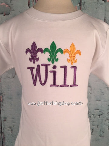 Fleur De Lis Trio Boys Shirt - Just The Thing Shop