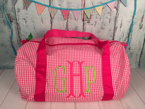Fishtail Monogram  Duffel - Just The Thing Shop
