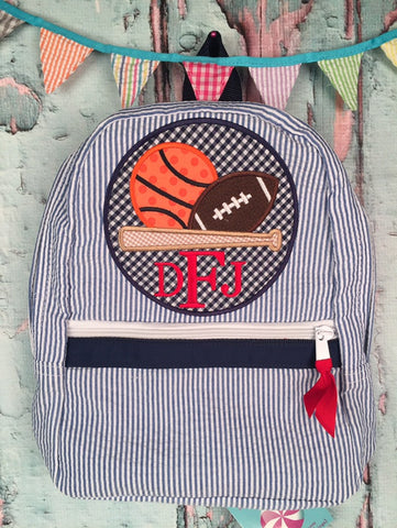 Sport Ball Patch Backpack - Just The Thing Shop