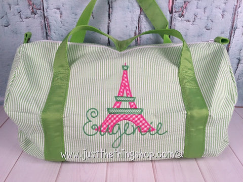 Eiffel Tower Duffel - Just The Thing Shop