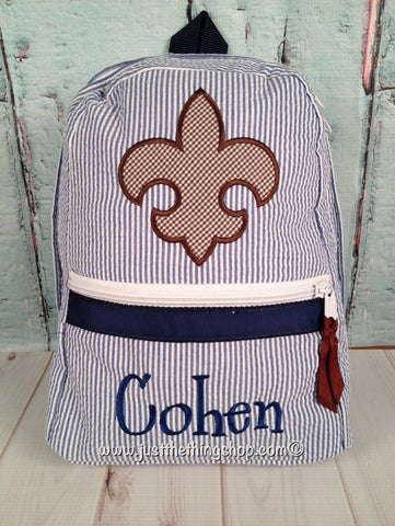 Fleur De Lis Backpack - Just The Thing Shop