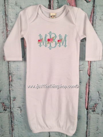 Monogram Baby Gown - Girls - Just The Thing Shop