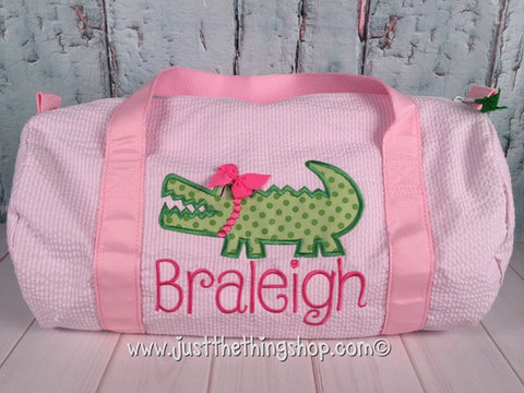 Girl Alligator Duffel - Just The Thing Shop