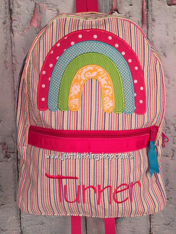 Rainbow Applique Backpack - Just The Thing Shop