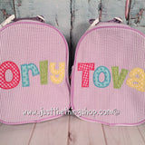 Applique Name Cheri Font Gumdrop Lunch Box - Just The Thing Shop