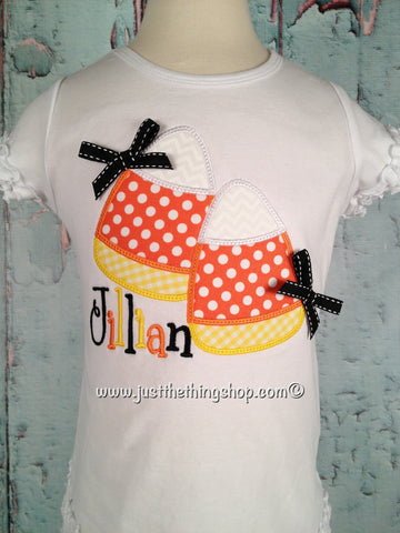 Candy Corn Applique Girls Shirt - Just The Thing Shop