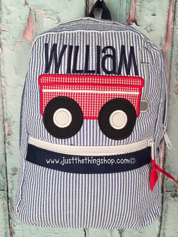 Wagon Applique Backpack - Just The Thing Shop