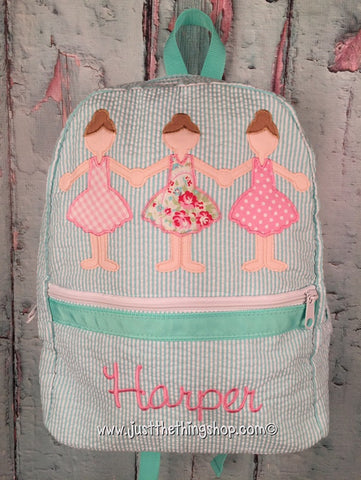 Ballerina Paperdoll Trio Backpack - Just The Thing Shop