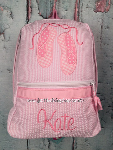 Ballet Shoes Slippers Backpack - Just The Thing Shop