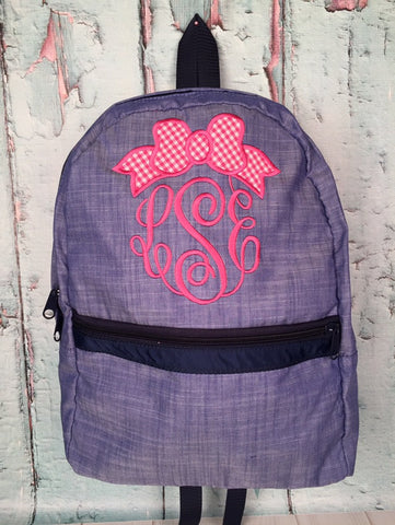 Bow Monogram Backpack - Just The Thing Shop