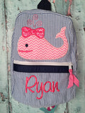Girl Whale Backpack - Just The Thing Shop