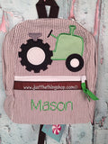 Boy Tractor Backpack - Just The Thing Shop