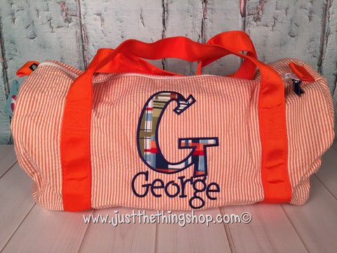 Applique Monogram Duffel - Just The Thing Shop