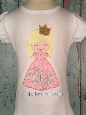 Princess Applique Girls Shirt - Just The Thing Shop