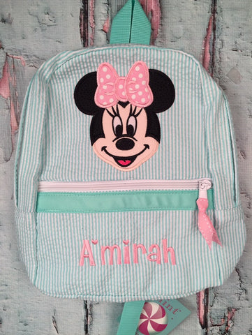Minnie Mouse Face Backpack