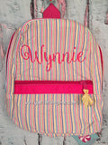 Ballerina Script Monogram For Girls Backpack - Just The Thing Shop