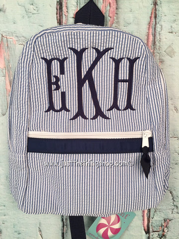Fishtail Monogram Backpack - Just The Thing Shop