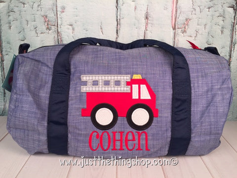 Fire Truck Duffel - Just The Thing Shop