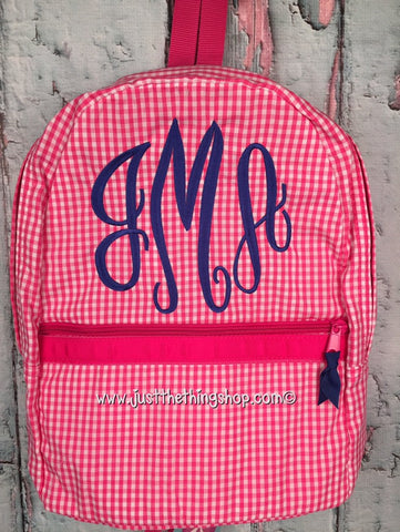 Master Circle Monogram For Girls Backpack - Just The Thing Shop