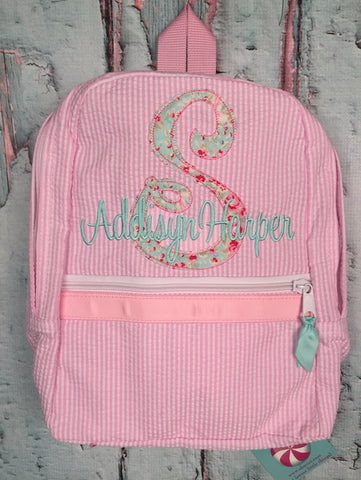 Scribble Applique Monogram Backpack - Just The Thing Shop