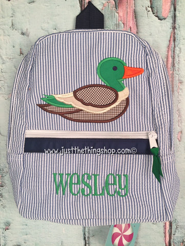 Mallard Duck Backpack - Just The Thing Shop