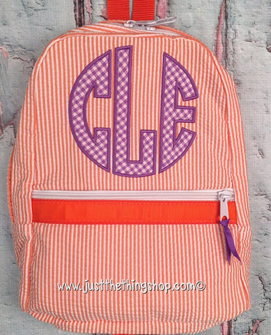 Circle Applique Monogram Backpack - Just The Thing Shop