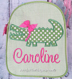 Girl Alligator Gumdrop Lunch Box - Just The Thing Shop
