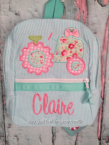 Girl Tractor Backpack - Just The Thing Shop
