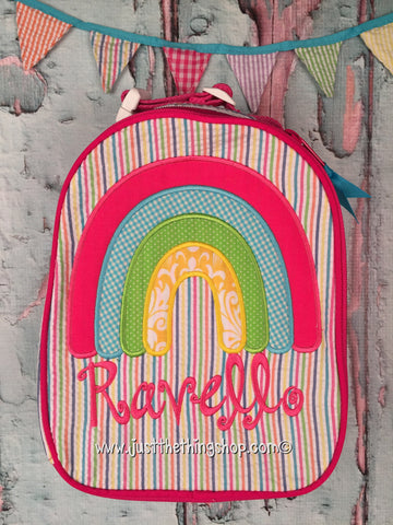 Rainbow Applique Gumdrop Lunch Box - Just The Thing Shop