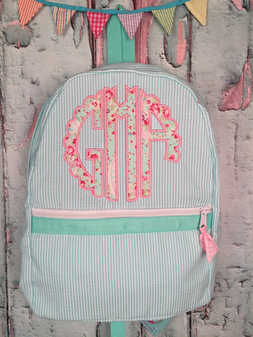 Scalloped Circle Applique Backpack - Just The Thing Shop