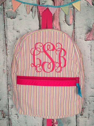 Vine Monogram For Girls Backpack - Just The Thing Shop