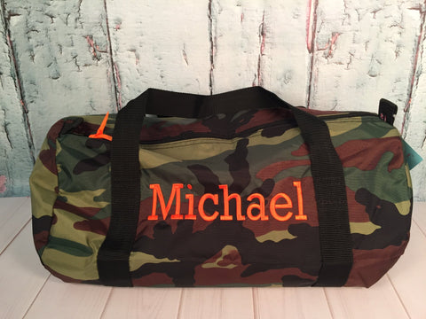 Camo Monogram Nylon Duffel - Just The Thing Shop