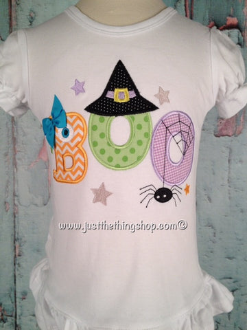 Cute Boo Applique Girls Shirt - Just The Thing Shop